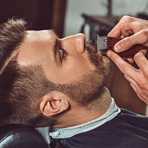 barber with man in chair